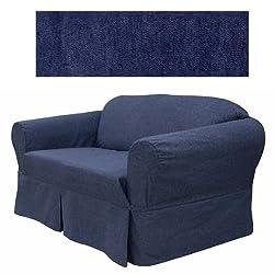 Jeans Indigo Furniture Slipcover Sofa 452