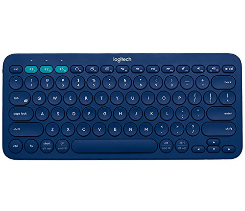 Click to buy Logitech K380 Bluetooth QWERTY Turkish Blue keyboard - From only $49