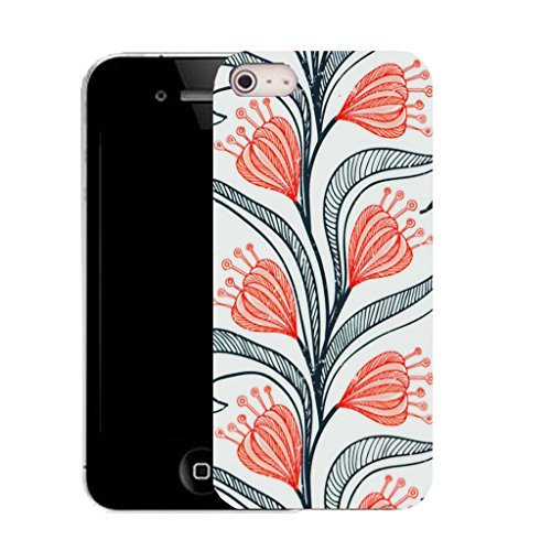 Mobile Case Mate iPhone 5c clip on Silicone Coque couverture case cover Pare-chocs + STYLET - natural floral pattern (SILICON)