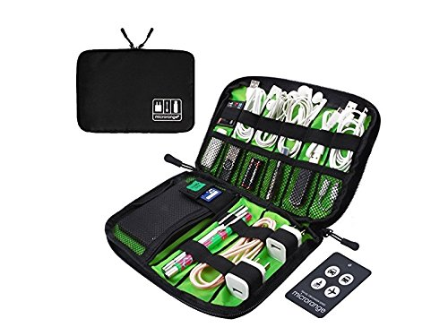 OVIIVO Memory Cases Travel Organizer Bag Electronics Accessories Bag Phone Charger Case for Electronic Computer Accessories USB Cables Power Banks Hard Disk (Black)
