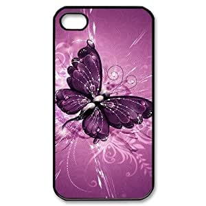 LZHCASE Diy Customized hard Case Butterfly For Iphone 4/4s [Pattern-1]