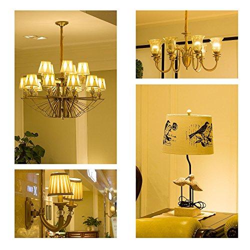 KunstDesign LED Candelabra Bulb 4W 6Pack LED Bulbs Dimmable 3000K Warm White Bulb with 400 Lumen, E12 LED Bulb Candelabra Base 40 Watt Equivalent T25 Tubular Bulbs Shape by KunstDesign (Image #1)