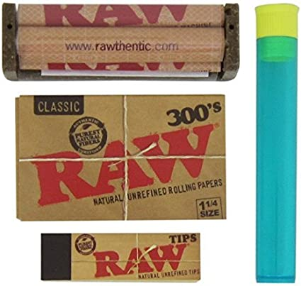 Raw Rolling Paper 1 1//4 size deal  Raw 79mm roller Raw Tips
