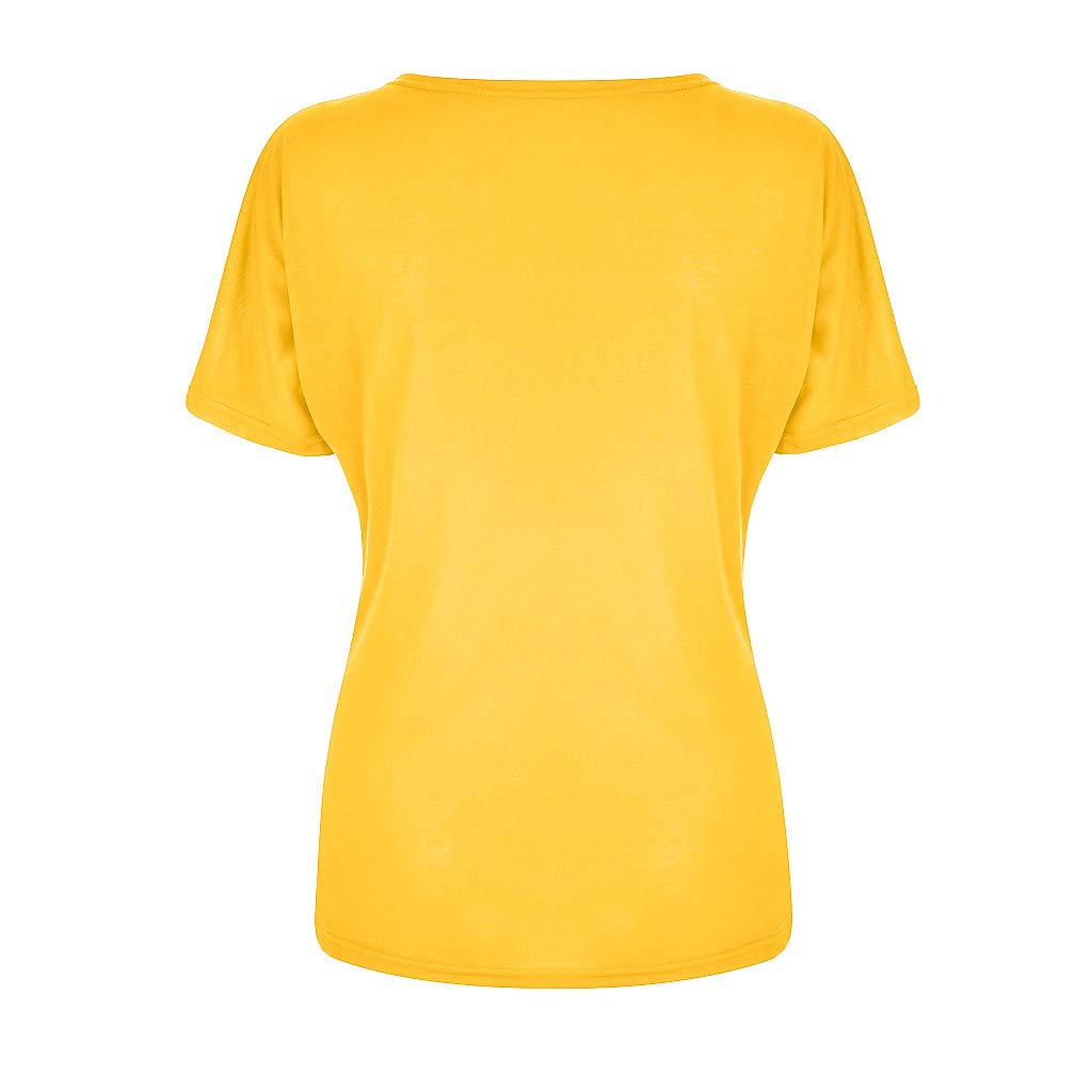 Short Sleeve T Shirt for Women丨Summer Casual Color Patchwork Round Neck Tee Shirts丨Womens Loose Blouse Tops Plus Size