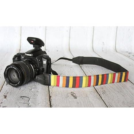 Funda dibujo patrón Mulit color rayas cahb10 F cámara Correa para ...