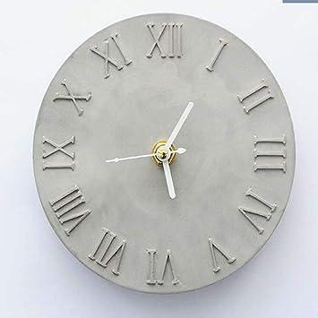 Cemento hormigón molde de silicona DIY Craft reloj Making arcilla yeso molde roman number: Amazon.es: Hogar