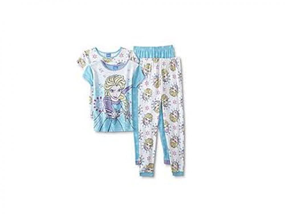 Disneys Frozen Elsa 4 Piece Pajamas Set