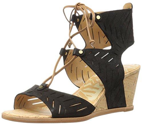 Sandalo Con Zeppa Langly Dolce Vita Da Donna Nero Nabuk