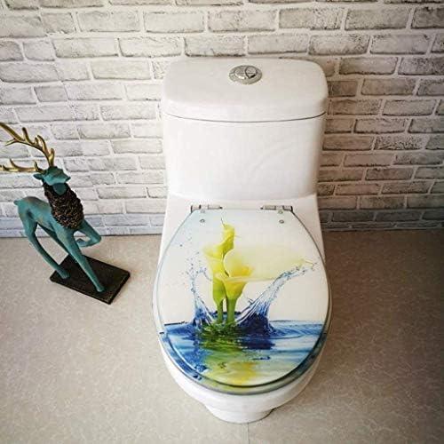 CXMMTGトイレのふた V/U/O形状のトイレのための調節可能なヒンジクイックリリース便座カバー肥厚バスルームの蓋付き便座ロータス便蓋、OneColor-40〜48 * 33〜38センチメートル CXMWY-4W0Y2