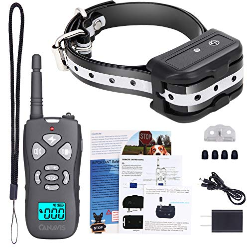 CANAVIS Dog Shock Collar with 1800Ft Remote, Waterproof Dog Training Collar, Rechargeable Electronic Collar with Vibration Tone Shock Modes, Adjustable Collar Strap for Small Medium Large Dog by CANAVIS (Image #6)