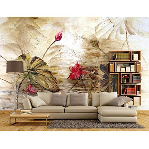 Pbldb Custom 6D Mural,Lotus Oil Painting Murals,Hotel Restaurant Living Room Sofa Tv Wall Bedroom - 1887 Oil Paintings