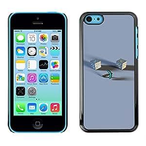KLONGSHOP // Cubierta de piel con cierre a presión Shell trasero duro de goma Protección Caso - M1necraft - iPhone 5C //