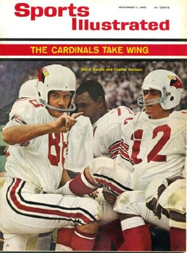 Sports Illustrated November 1 1965 Sonnie Randale & Charley Johnson/St. Louis Cardinals on Cover, Purdue vs Michigan State for Rose Bowl Berth, Ardell Sailing School