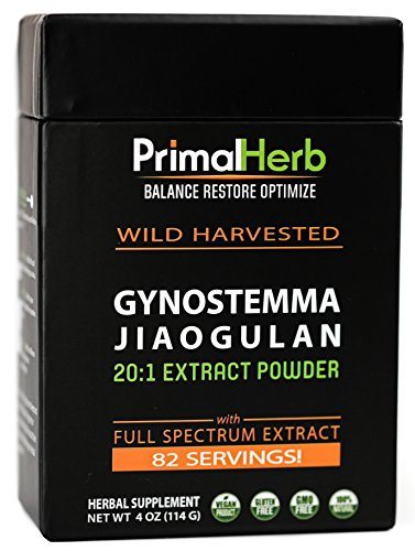 Gynostemma Jiaogulan Extract Powder | Potent AMPK Activator – Antioxidant & Adaptogenic Longevity Herb | – 82 Servings – Includes Bamboo Spoon For Sale