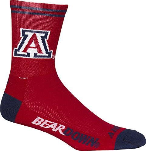 Adrenaline Bicycle - NCAA Arizona Wildcats Cycling/Triathlon/Running Socks, Large/X-Large