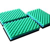 LTWHOME Fish Pond Foam Filter Sponge Set 430mm X 280mm Media,17-Inch X 11-Inch MEDIA(Pack of 3 Set )