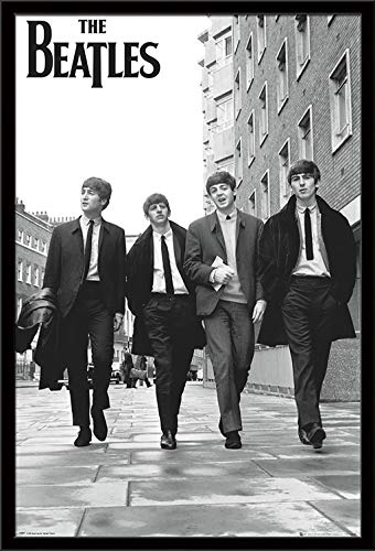 """Trends International The Beatles-in London Wall Poster, 22.375"""" x 34"""", Black Framed Version"""
