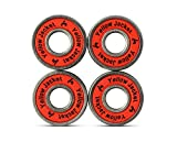 Premium Scooter Bearings, Razor Scooters, Kick Scooter, 608, ABEC 11, Racer Red (Pack of 4)