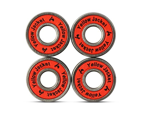 Yellow Jacket Premium Scooter Bearings, Razor Scooters, Kick Scooter, 608, ABEC 9, Racer Red (Pack of (Yellow Jacket Wheels)