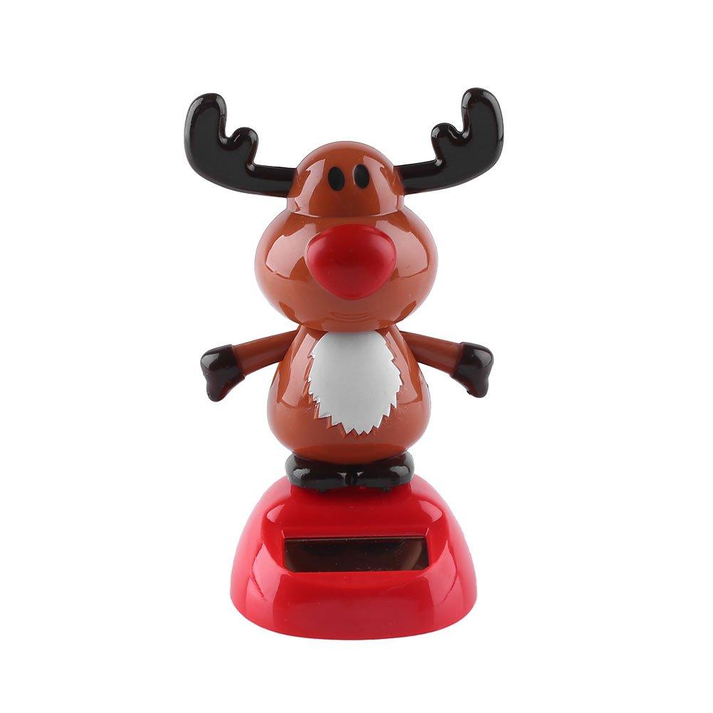 Solar Powered Dancing Turkey Swinging Toys Bobble Dolls Car Home Thanksgiving