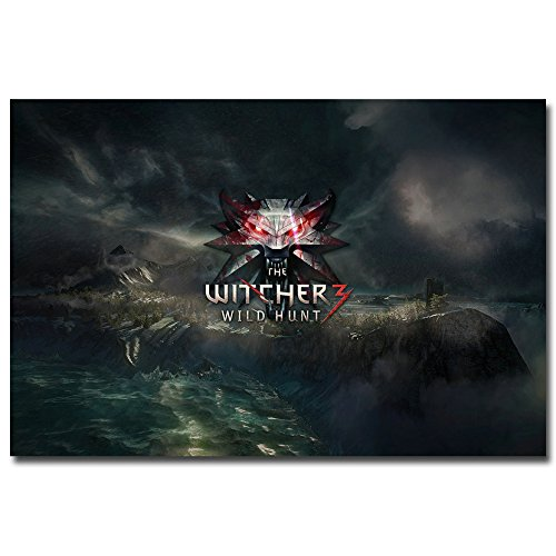 Stylish Custom Geralt The Witcher 3 Wild Hunt Game Art Canvas Poster Print Pictures For Room Decor Tw16