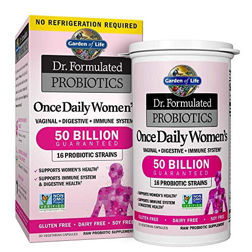 Garden of Life Dr. Formulated Probiotics for Women, Once Daily Women's Probiotics, 50 Billion CFU Guaranteed, 16 Strains, Shelf Stable, Gluten Dairy & Soy Free One a Day, Prebiotic Fiber, 30 Capsules (Best Diet For Regular Bowel Movements)