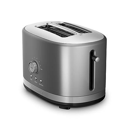 Amazon.com: KitchenAid Tostadora de 2 ranuras con palanca de ...