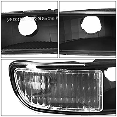 DNA MOTORING Black Housing Clear Corner HL-LB-SIERRA99-BK-CL1 4PCs LED DRL Strip Headlight+Bumper Lamp[99-07 GMC Sierra/Yukon]: Automotive