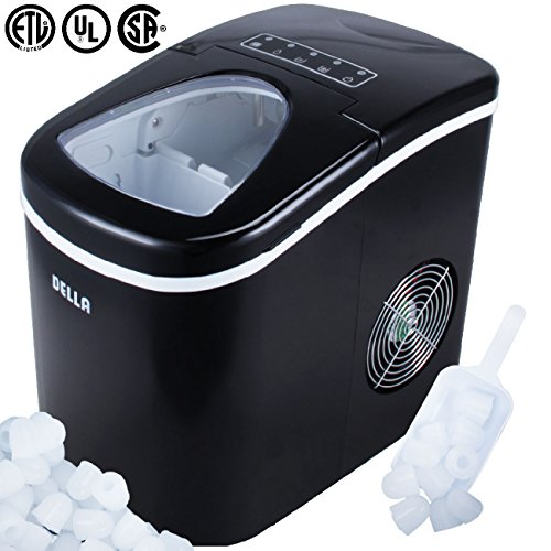 Della Portable Ice Maker, Produces up to 26 lbs. of Ice Daily, 2-Size...