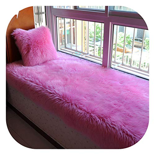 (Fairy music Multi Color Solid Long Fur Sofa Cover Fluffy Fake Fur sectional slipcovers canape Couch Furniture Cover,Deep Pink per pic,60cm120cm 1piece)