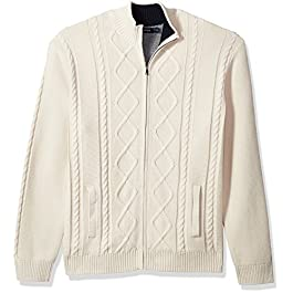 Nautica Long Sleeve V-Neck Cable Sweater