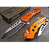TAC-FORCE Speed Assisted Opening Orange EMS Glass Breaker Rescue Knife Brand NEW
