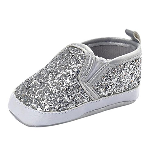 Axinke Baby Girls Boys Casual Slip-on Sequins Sneakers Anti-slip Crib Shoes for 0-18 Months