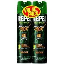 REPEL Sportsmen Max Insect Repellent 6.5-oz Aerosol 40% DEET, 2-PK