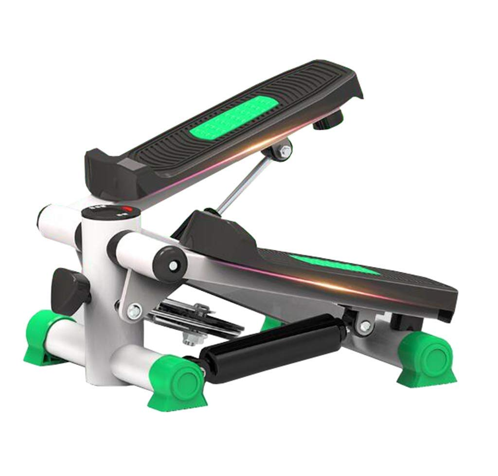ZYY Steppers,Aerobic Fitness Exercise Machine Home Mute Stepper, Hydraulic Mute Stepper Aerobic Torque with Adjustable Resistance Band (Color : Green)