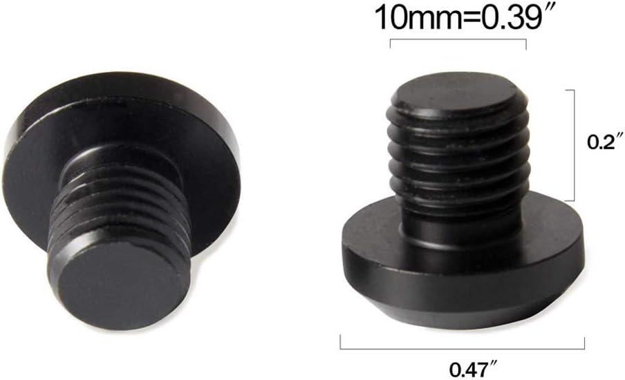 JVSISM 4 PCS M10X1.25 Mirror Hole Plugs for FZ-09// FZ-07 CRF250