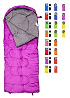 REVALCAMP Sleeping Bag by Indoor & Outdoor Use. Great for Kids, Boys, Girls, Teens & Adults. Ultralight and compact bags are perfect for hiking, backpacking & camping from REVALCAMP