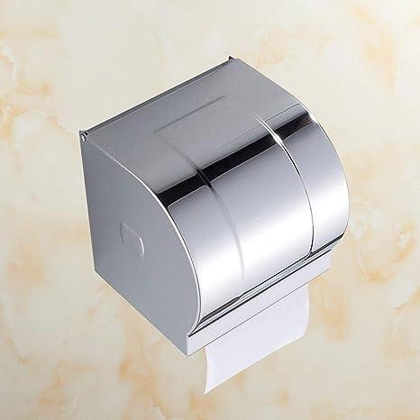 FEI Toilet Paper Rack Bathroom - Free Toilet Paper Holder Caja de Papel higiénico de Acero Inoxidable Toilet Paper Towel Box Rollo de Papel Box Wall - Mounted: Amazon ...