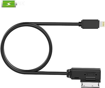 Chelink ami MMI MDI c/âble de chargement adaptateur pour Audi VW Jetta GTI GLI Passat CC Tigun Touareg EOS pour iPhone 8//7//6S//6//5S//5//5 C Plus Seulement pour la charge
