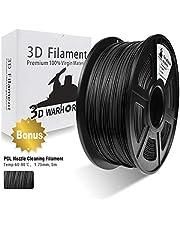 3D Warhorse PLA Filament/ABS Filament/PETG Filament/TPU Filament/PLA Carbon Fiber,3D Printer Filament, Dimensional Accuracy +/- 0.02 mm, Bonus with 5M PCL Nozzle Cleaning Filament