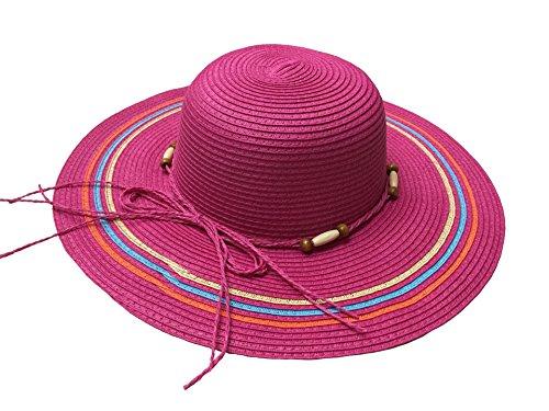 Rouge Chapeaux Femme Voyage Capeline Avec De Paille Acvip 4couleurs Vacances Rose Soleil Ruban 7Sw1nqR15x