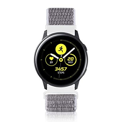 WNIPH 20mm Quick Release Watch Band Compatible with Samsung Galaxy/Huawei/Pebble/Asus/Ticwatch Smart Watch, Soft Nylon Lightweight Breathable ...