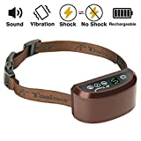 #10: [NEW 2017 MODEL] Rechargeable Bark Collar - SMART Detection Dual Anti-Barking Modes: Beep+Vibration/Shock for Small, Medium, Large Dogs. 100% Waterproof. No-Bark Training & Control System