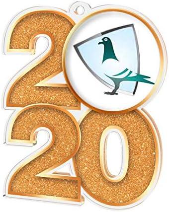Trophy Monster 2020 - Medalla de Paloma para Clubes y Fiestas (70 mm, 3 Unidades)