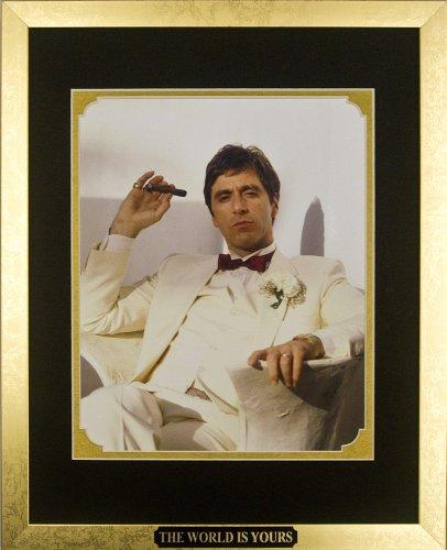 Scarface - Al Pacino as Tony Montana with Cigar. Framed Phot