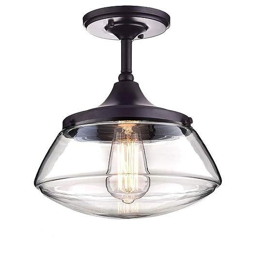 Ruanpu Luces de techo de, lámpara de araña de pantalla de cristal ...