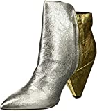 Kenneth Cole New York Women's Galway Side Zip Heeled Bootie Ankle Boot, Gold/Silver, 8.5 M US