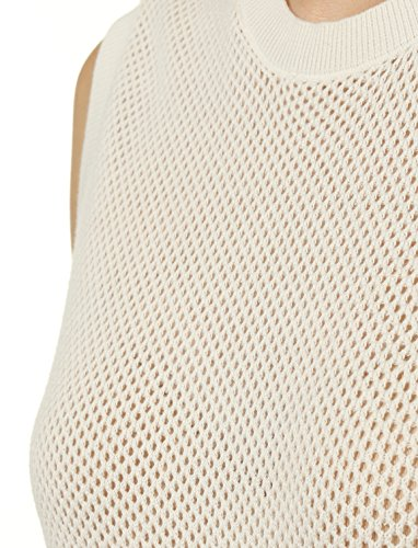 Mossimo Women's Open-Knit Sweater Vest M White by 7 Encounter (Image #4)