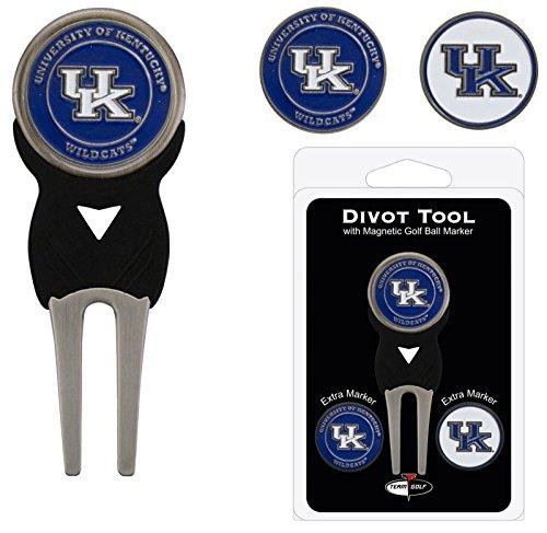Kentucky University Golf Divot Tool w/ Three Double Sided Ball M