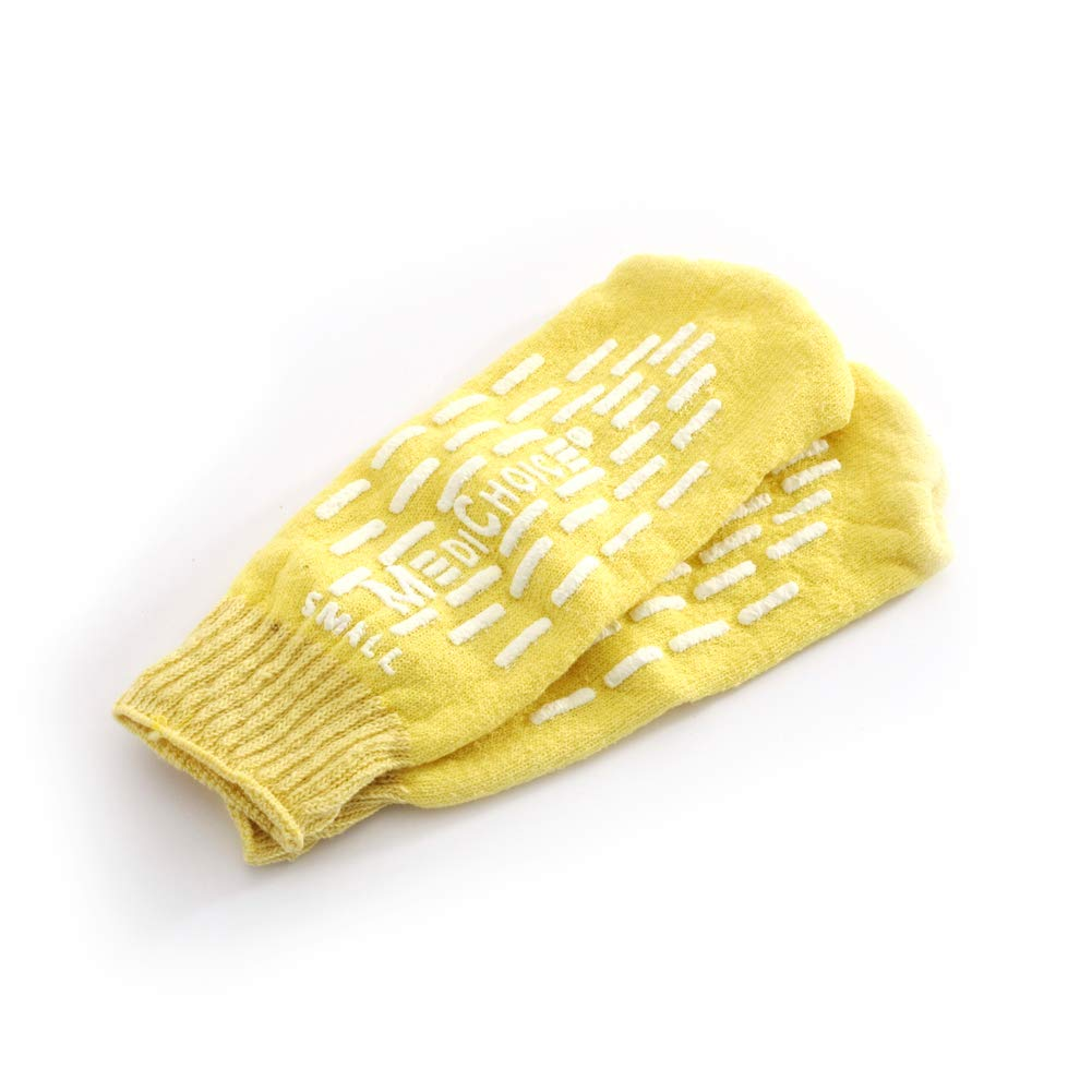 MediChoice Terry Cloth Slippers, Single Tread, Small, Yellow, 1314SLP1002 (Case of 48 Pairs - 96 Total) by MediChoice